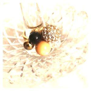 JCREW beaded ring, gold